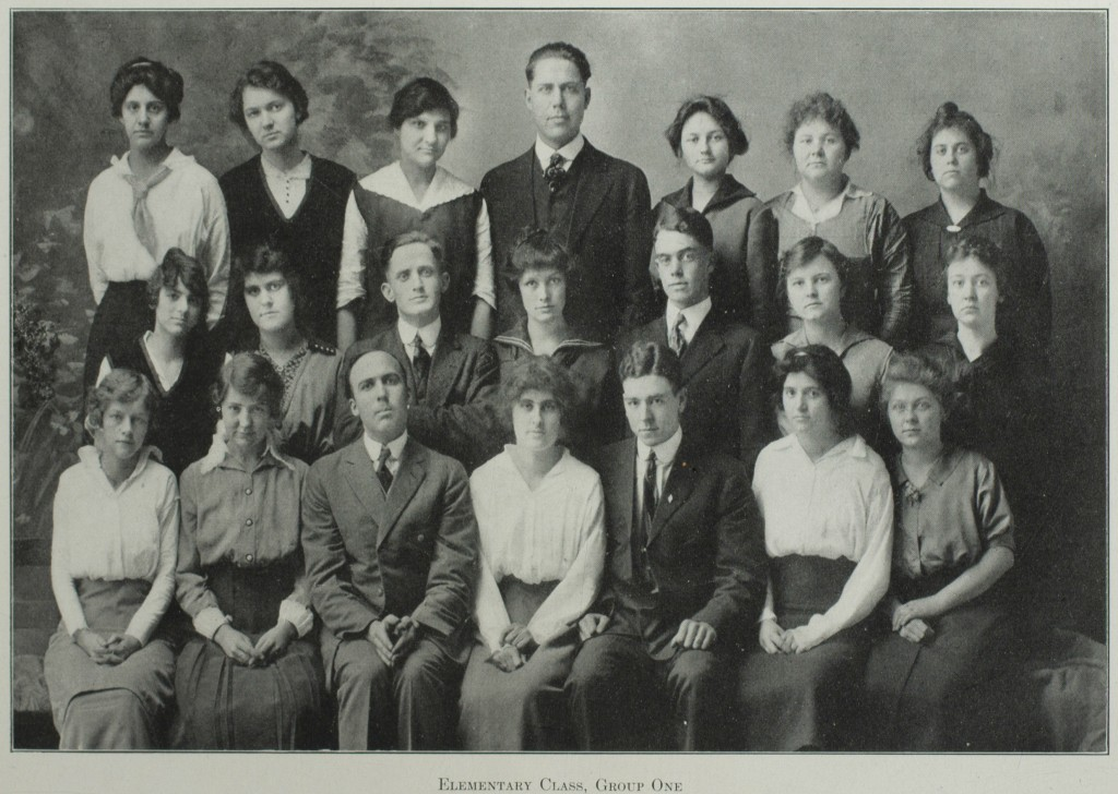 Elementary Class from the 1915 Echo.  Page 64. Courtesy of Pickler Memorial Library, Special Collections.